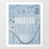 the fault in our stars Art Prints featuring Fault in Our Stars by Natasha Ramon