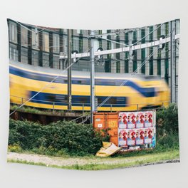 Commuter Train Wall Tapestry