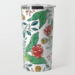 Wildflower Pattern - Full Color Travel Mug