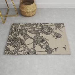 Bees and Clover Rug