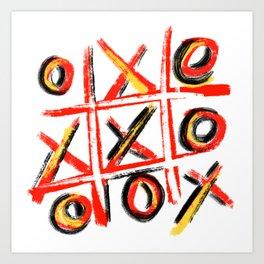 Pop Art Tic Tac Toe Drawing Canvas Art Digital Art Art Print