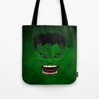 monster inc Tote Bags featuring Monster Green by Inara