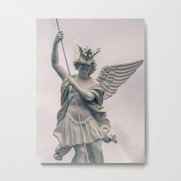 Saint Michael the Archangel Vanquishing Evil - Catholic Art in Lourdes France Metal Print