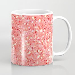 Electric Tangerine Glitter Coffee Mug