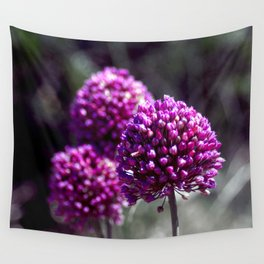 Wilde Onion Pink Flowers Wall Tapestry