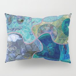 Blue - Green Collage July 2020 Pillow Sham