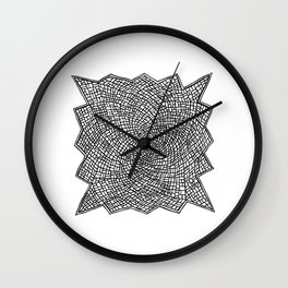 Cracked Glass Wall Clock