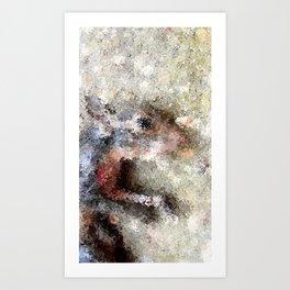 He takes the cheesiest pics Art Print