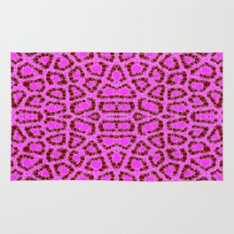 Hot Pink Cheetah Abstract Rug