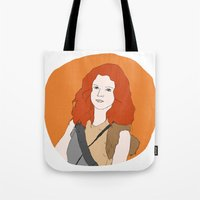 khaleesi Tote Bags featuring Ygritte by Emma