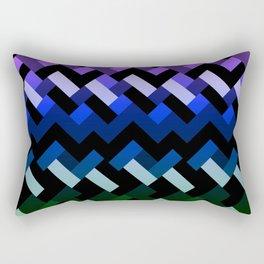Blue Geometric Rectangular Pillow