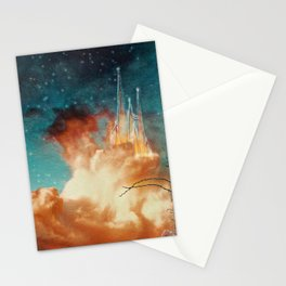 Seeing a City in the Clouds Stationery Cards