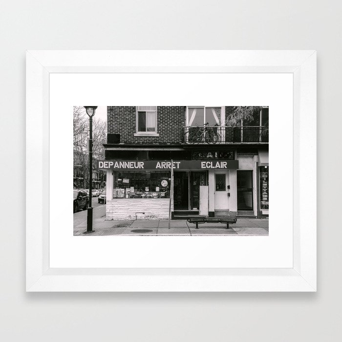 Depanneur Arret Eclair Framed Art Print
