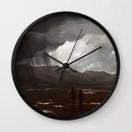 Told ya flip-flops were the wrong shoes for this quest Wall Clock