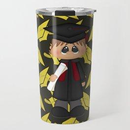 Cute Little Graduation Boy Travel Mug