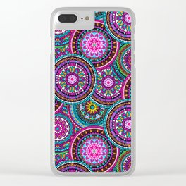 Bright Bohemian Boho Hippy Chic Pattern Clear iPhone Case