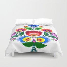 folk flowers ornament  Duvet Cover