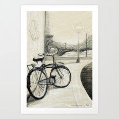 My Bike in New Brunswick Art Print