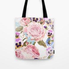 Spring flowers with mandalas Tote Bag