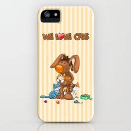 Rabbit catlover iPhone Case