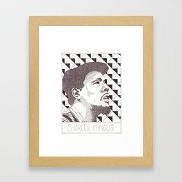 Charle Mingus Jazz Portrait Framed Art Print