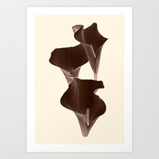 Brown Calla Lilly. Art Print