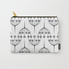 Abstract geometric pattern with floral elements Carry-All Pouch