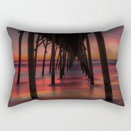 Water on Fire Kure Beach Sunrise Rectangular Pillow