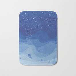 Stars factory, blue Bath Mat