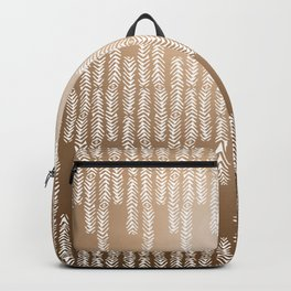 Eye of the Magpie tribal style pattern - gold Backpack