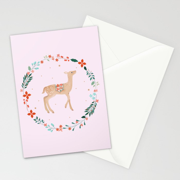 Winter Wreath Stationery Cards