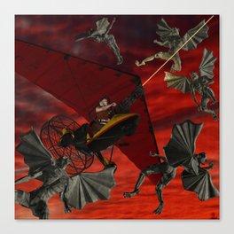 Ultralight Gargoyle Meyhem Canvas Print