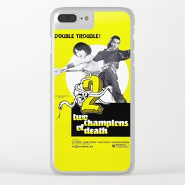 Vintage Film Poster- Two Champions of Death (1980) Clear iPhone Case