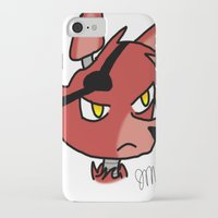 fnaf iPhone & iPod Cases featuring Foxy by Darkerin Drachen