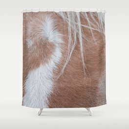Equine Cowlick Shower Curtain