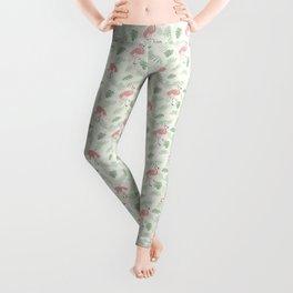 Flamingo Love Tropical Leggings