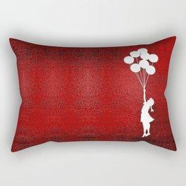 Banksy the balloons Girls silhouette Rectangular Pillow