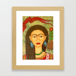My homage to Frida Kahlo Framed Art Print