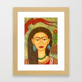 My homage to Frida Framed Art Print