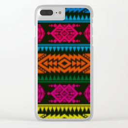 Ethnic Knitted pattern Clear iPhone Case