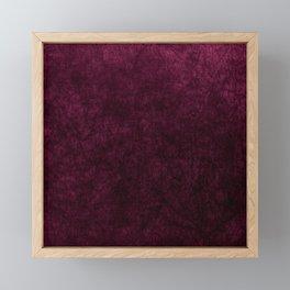 Pink Velvet texture Framed Mini Art Print