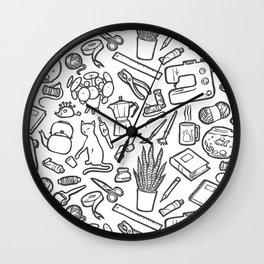 Sewing and crafting tools Wall Clock