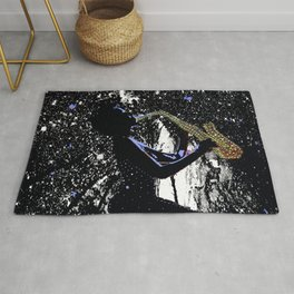 LADY JAZZ SAXOPHONE MUSIC AMONG THE STARS Rug