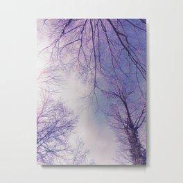 The Trees - Crisp n' Purple Metal Print