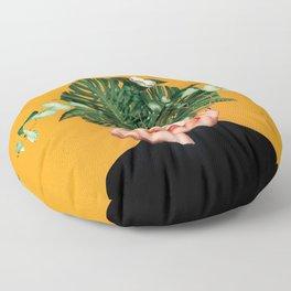 Lady Flowers    Floor Pillow