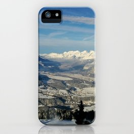 Innsbruck In Winter From Patscherkofel Mountain iPhone Case