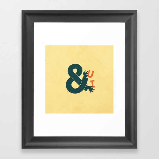 You and I Framed Art Print