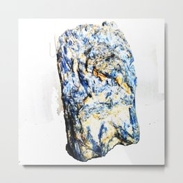 Kyanite crystall Gemstone Metal Print