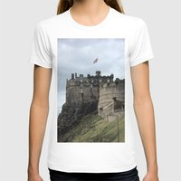 edinburgh T-shirts featuring Edinburgh Castle by RMK Creative