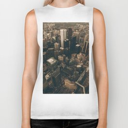 NYC from above - Ariel Image Biker Tank